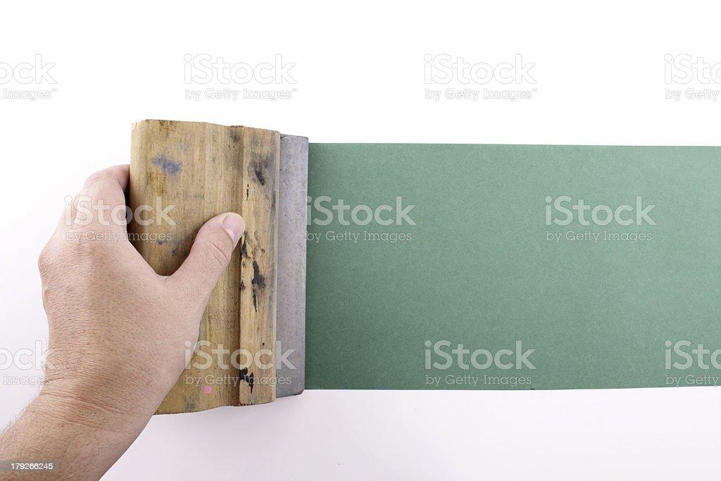 Green silkscreening stock photo
