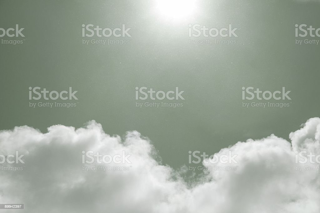 Green Sky royalty-free stock photo