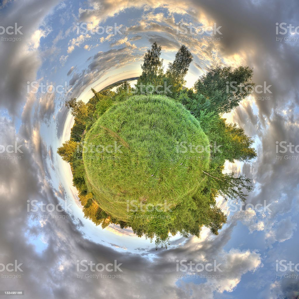 Green small planet royalty-free stock photo