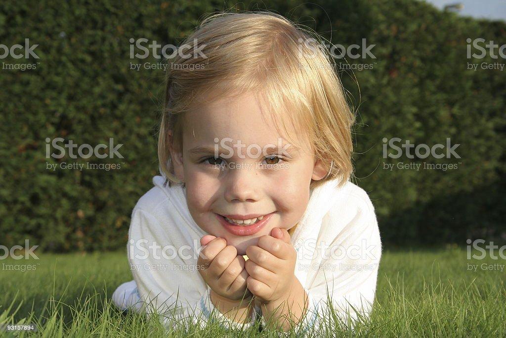 Green Smile stock photo