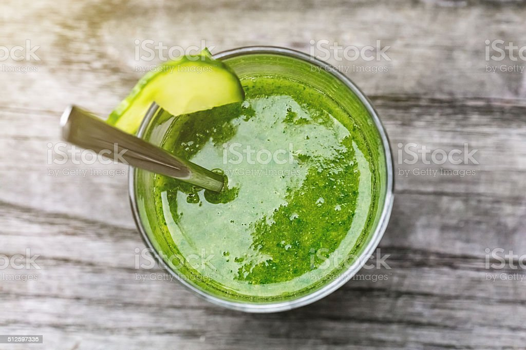 Green Smoothie with Antioxidants stock photo
