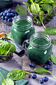Green smoothie with spirulina