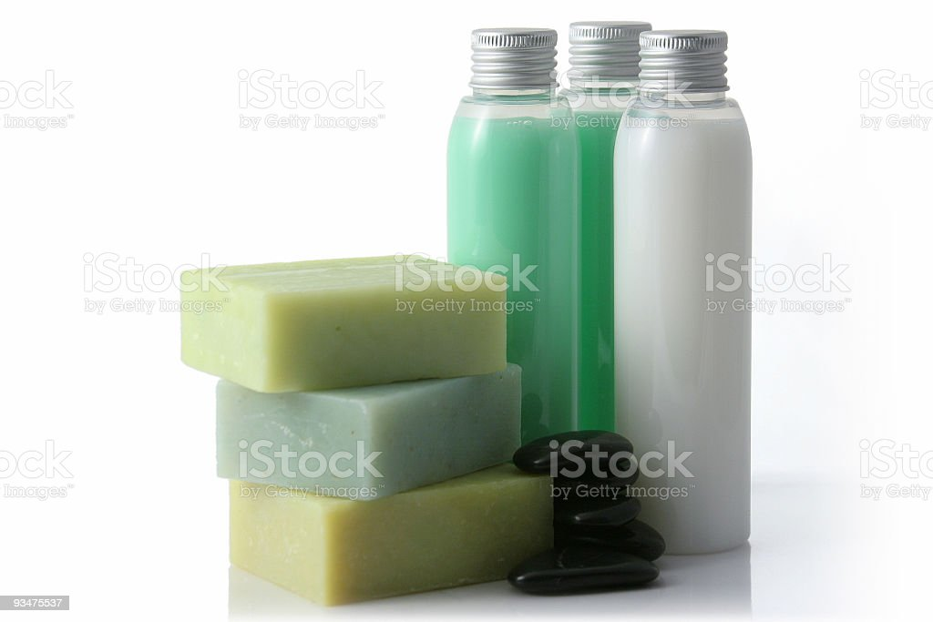 Green soap royalty-free stock photo