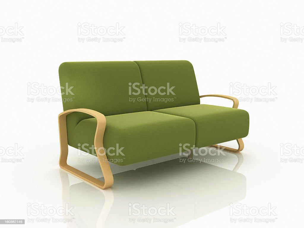 Green Sofa royalty-free stock photo