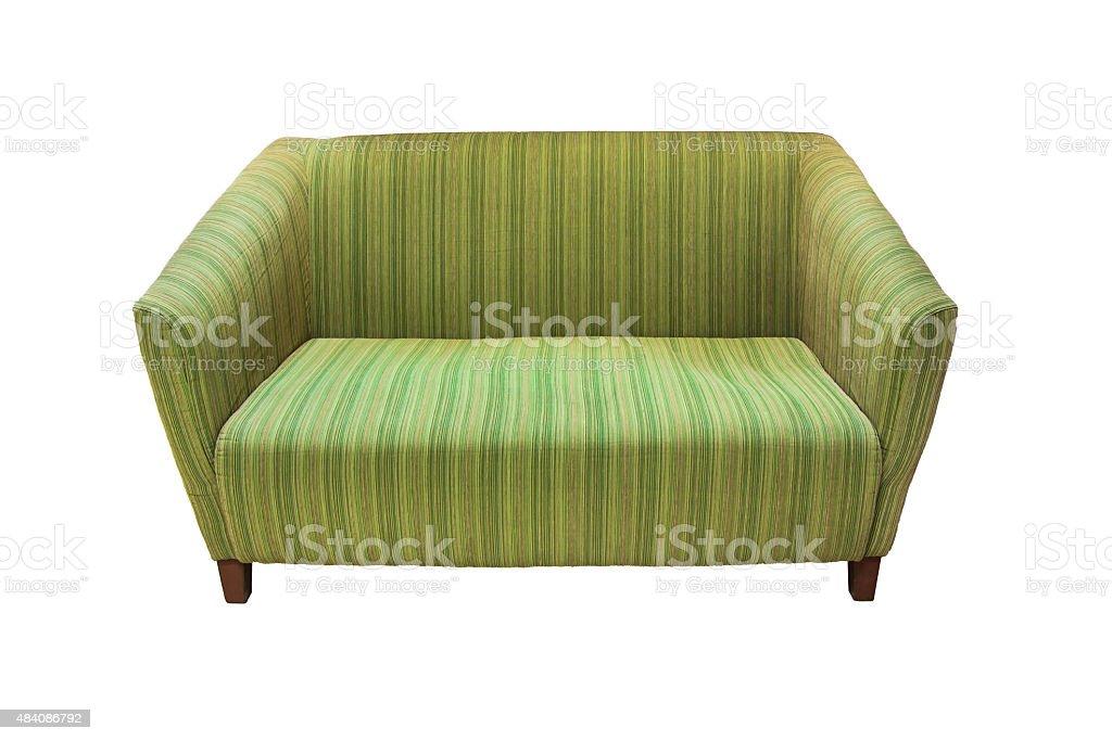 Grüne sofa Lizenzfreies stock-foto