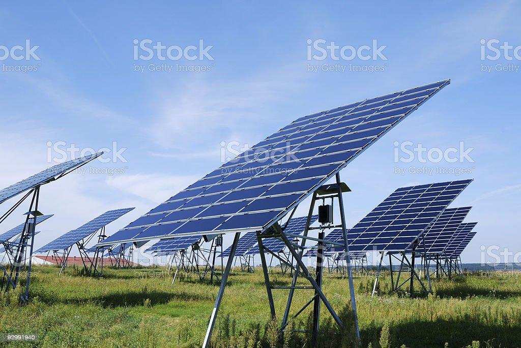 Green solar energy royalty-free stock photo