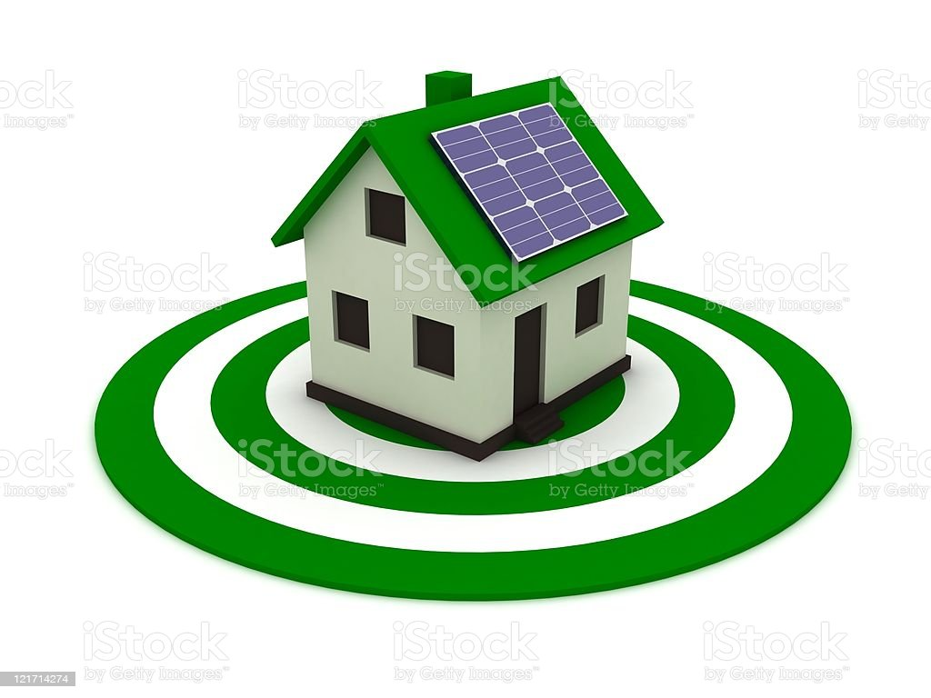 Green solar energy smart house royalty-free stock photo