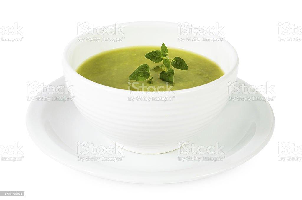 Green soup royalty-free stock photo
