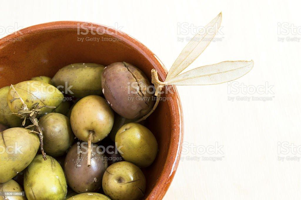 green spanish olives royalty-free stock photo