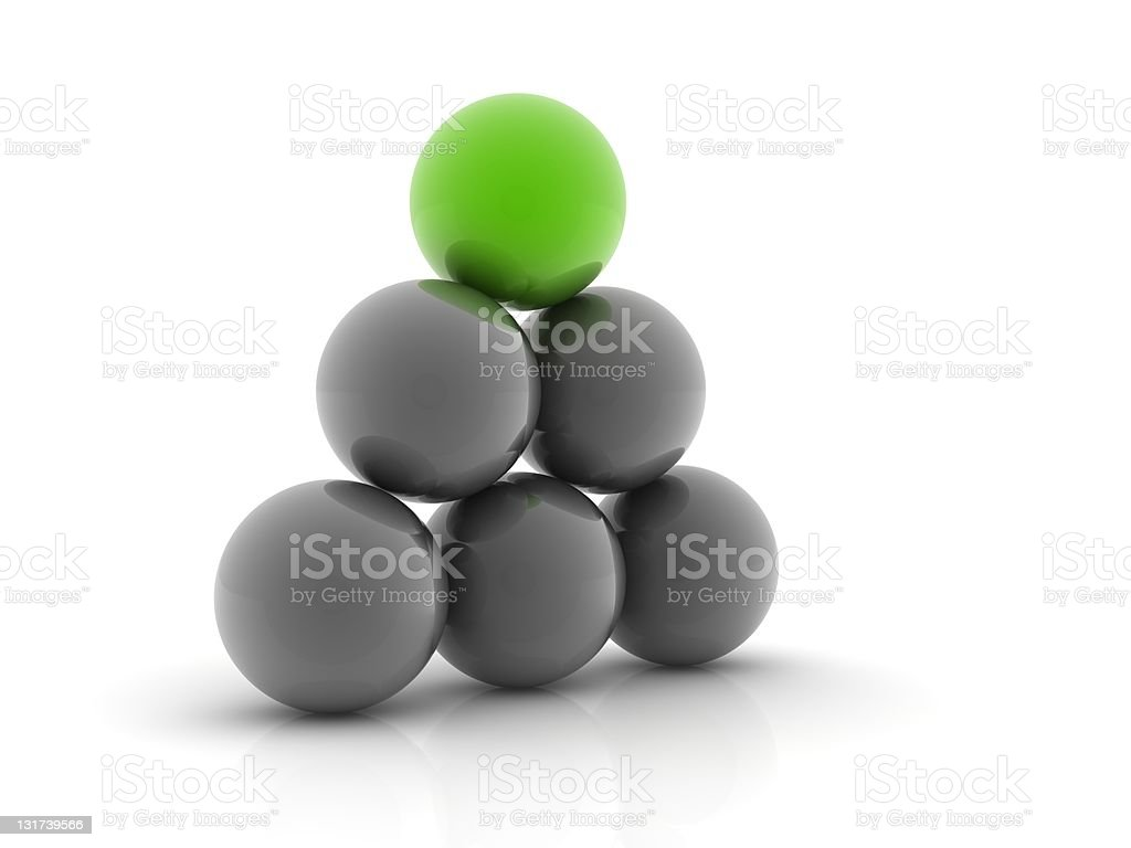 green sphere royalty-free stock photo