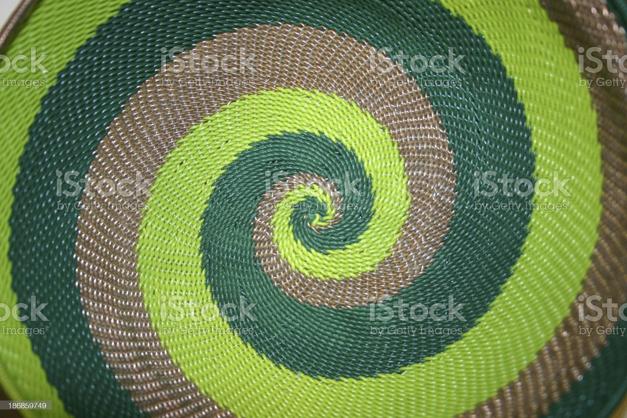 Green Spiral royalty-free stock photo