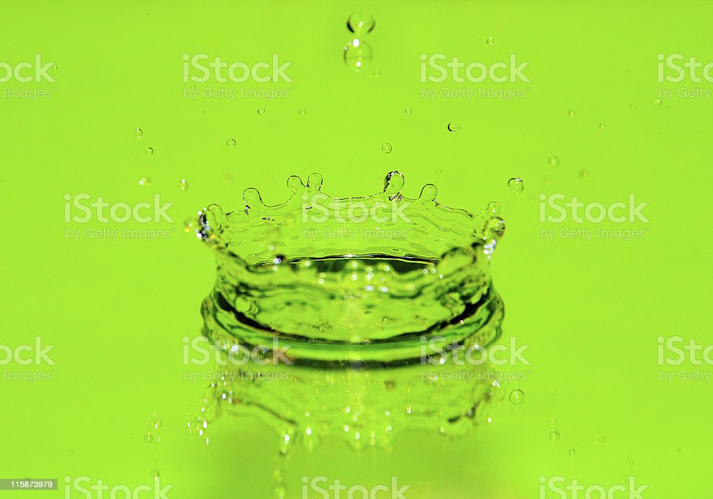 Green Splash royalty-free stock photo