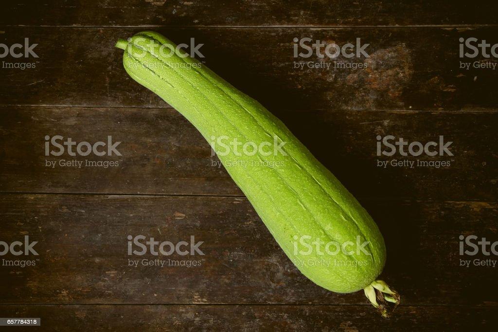 Green Sponge Gourd stock photo