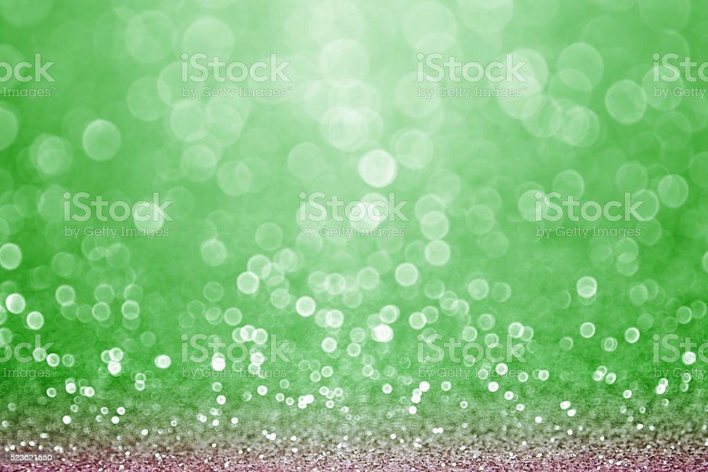 Green Sports Field Bokeh Background stock photo