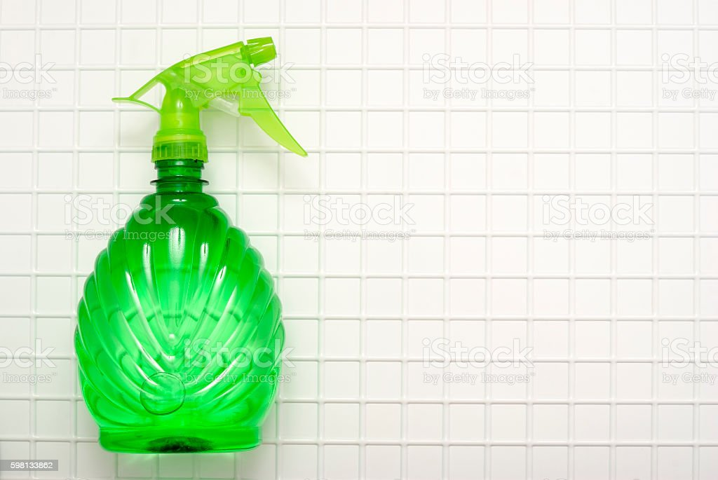 Green spray royalty-free stock photo