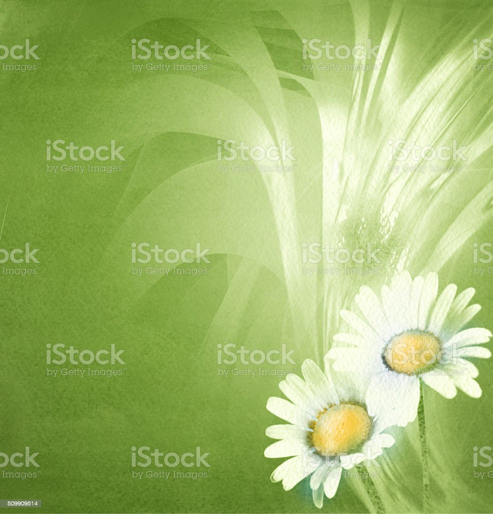 green spring art background stock photo