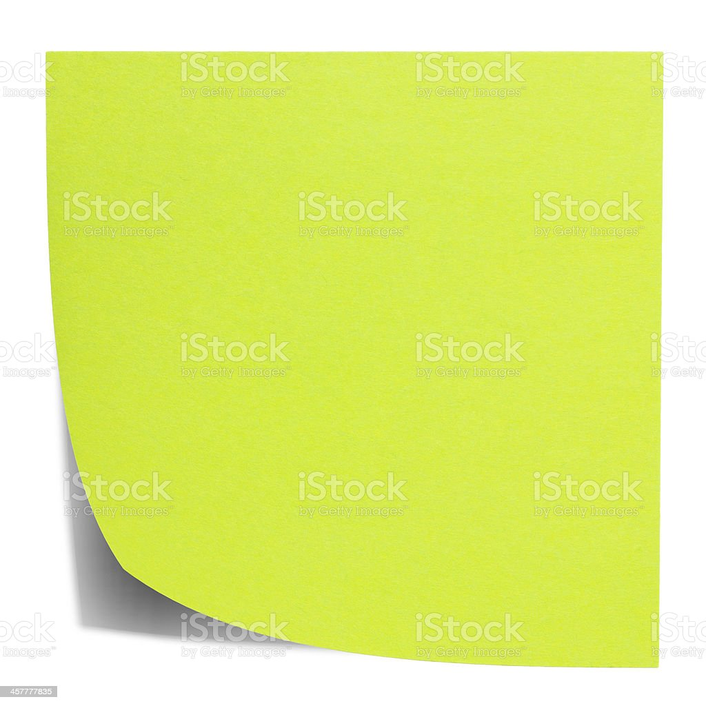 Post-it verde square foto stock royalty-free