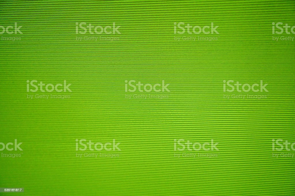 Green sreen stripes parrallel lines semi translucent glass plastic stock photo