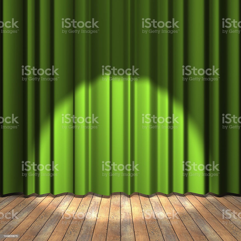 Green stage stock photo