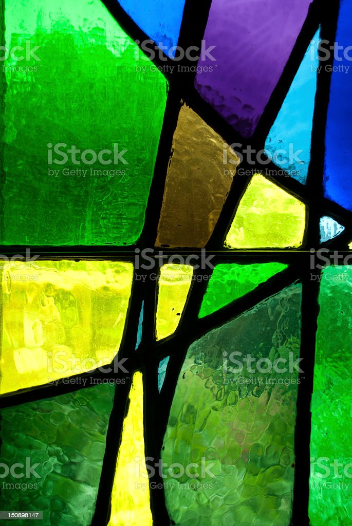 Green Stained Glass stock photo