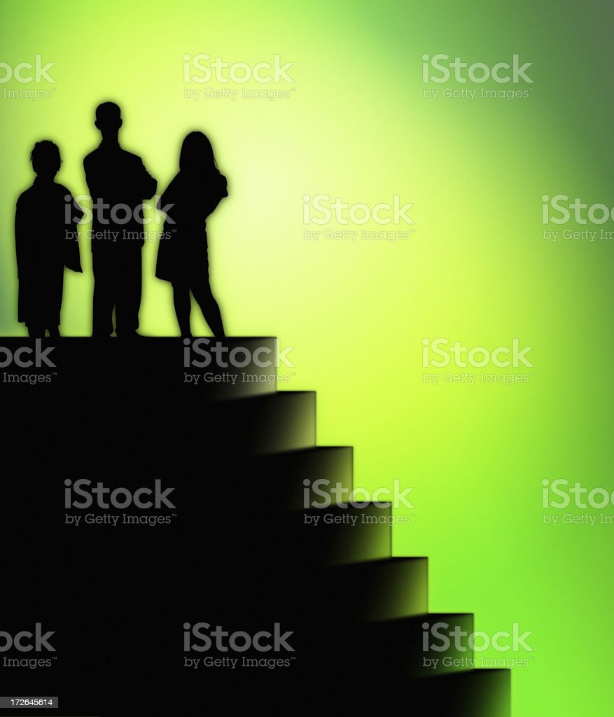 Green Stairway royalty-free stock photo