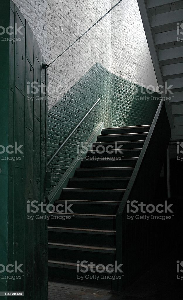 Green Stairwell royalty-free stock photo