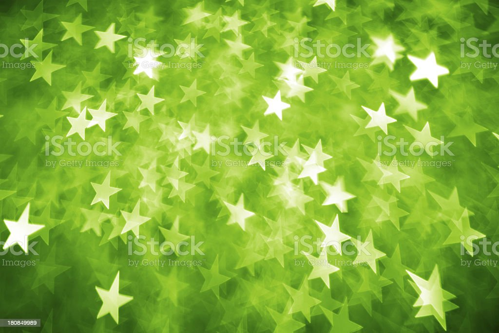 Green star shape lights royalty-free stock photo