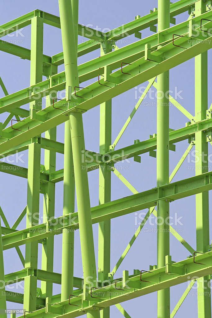 Green steel construction # 2 royalty-free stock photo