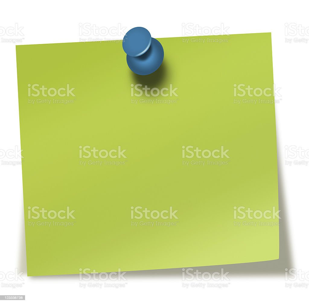 green sticky note royalty-free stock photo