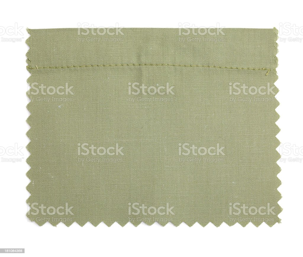 Green Stitched Fabric Swatch royalty-free stock photo
