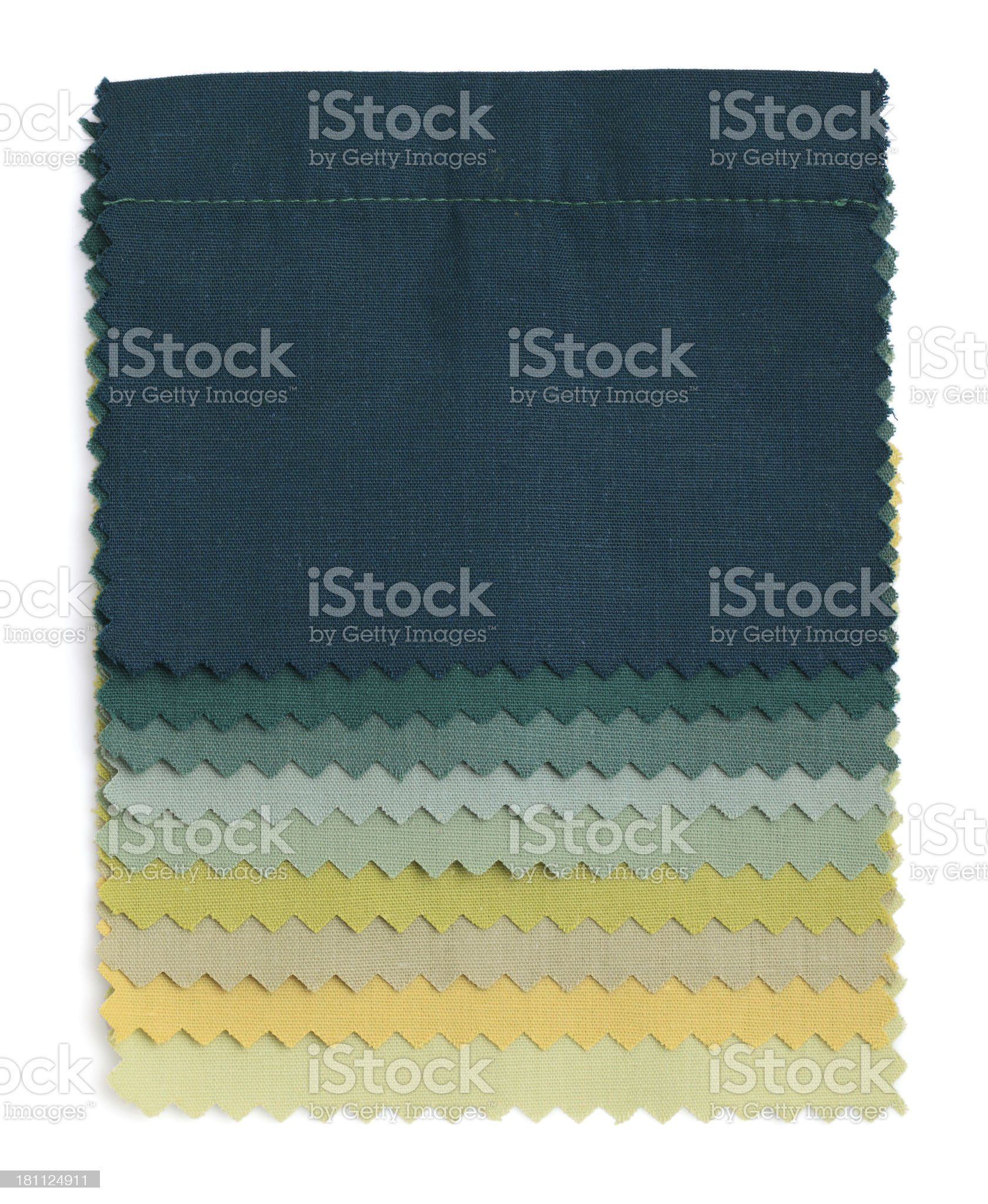 Green Stitched Fabric Swatches royalty-free stock photo