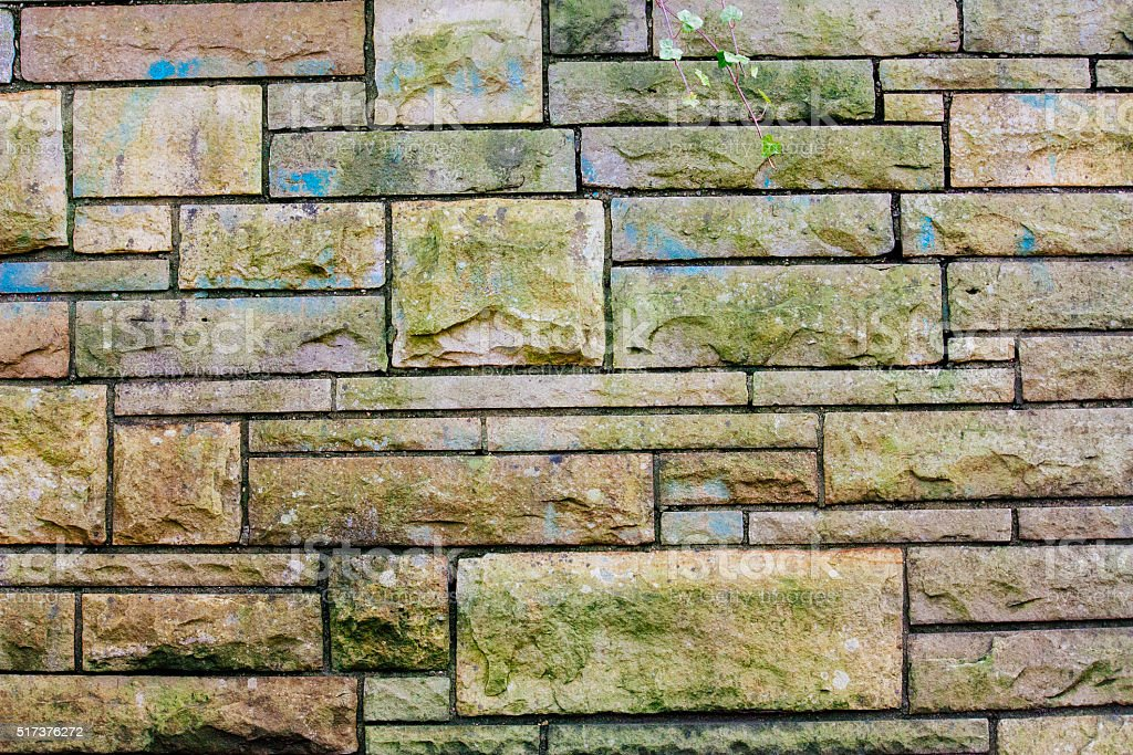 green stone wall, creative abstract design background photo stock photo