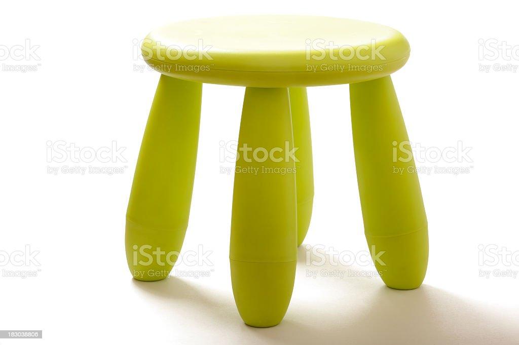 green stool royalty-free stock photo