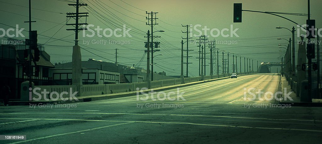 Green Street stock photo