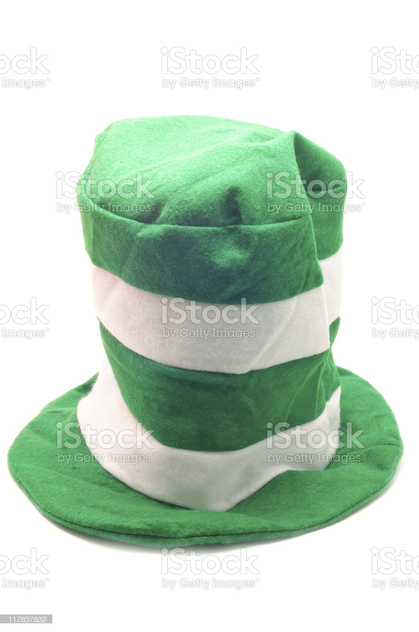 Green Striped Hat royalty-free stock photo