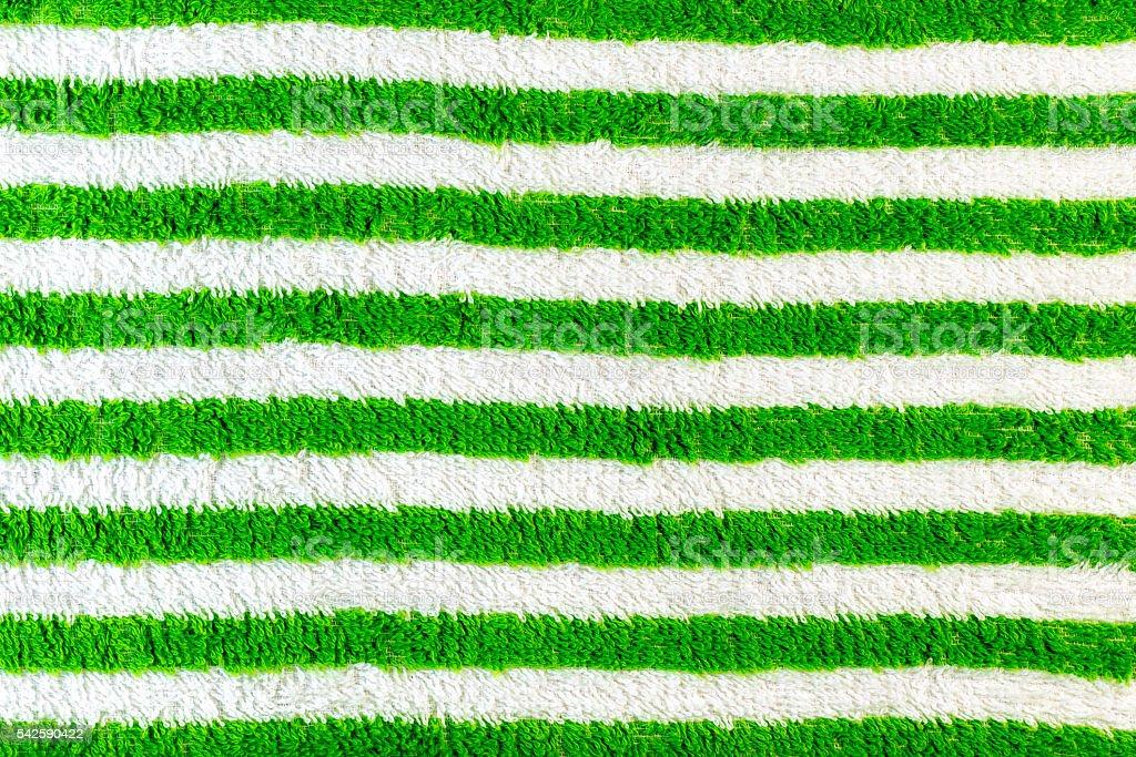 Green stripes towel stock photo