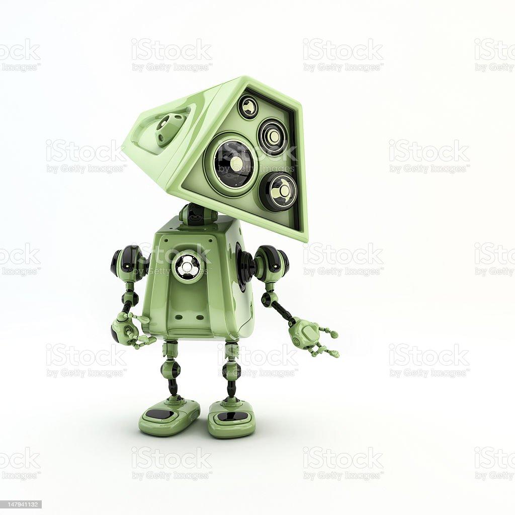Green stylish robot royalty-free stock photo