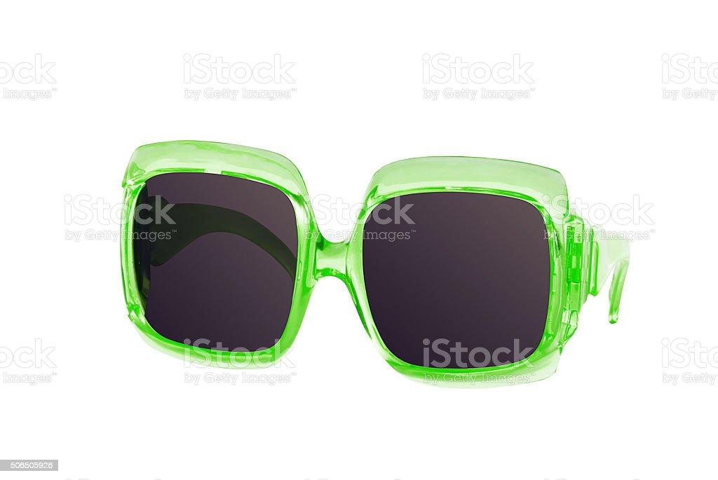 green sunglasses stock photo