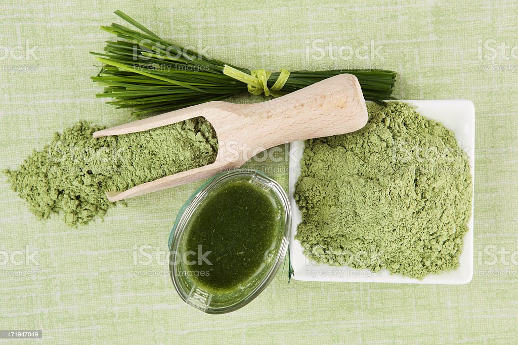 Green superfood background. stock photo