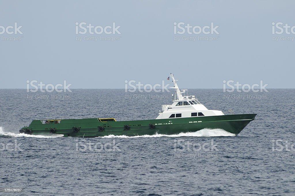 Green Supply vessel royalty-free stock photo