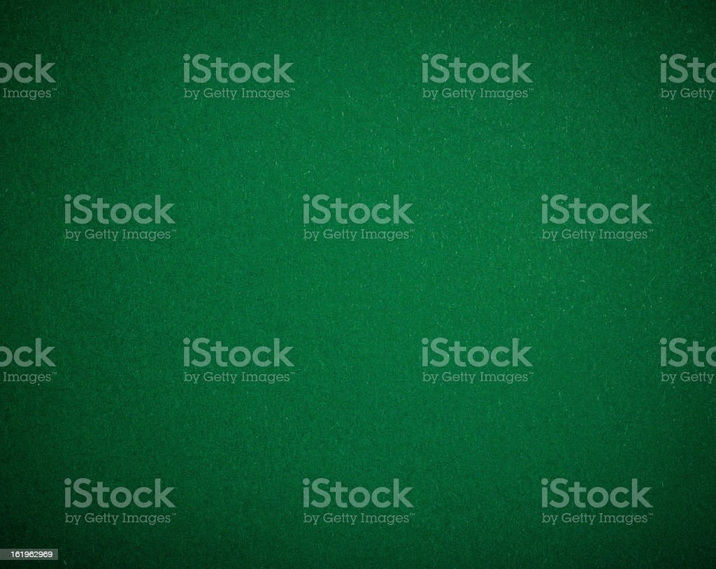 Green surface of poker or pool table stock photo