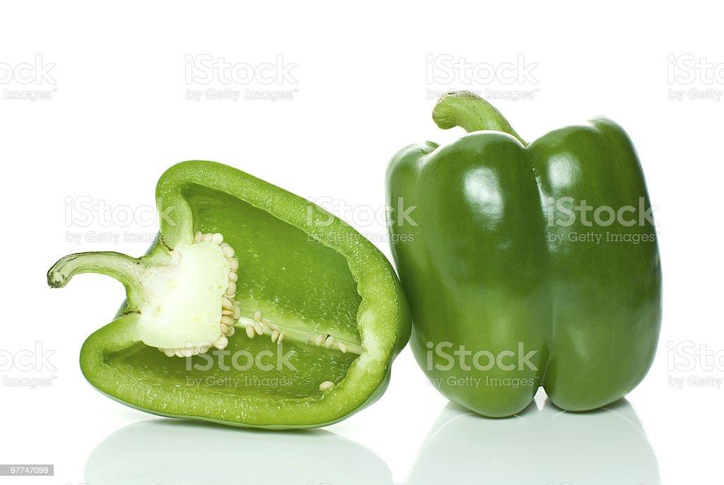 Pimenta Verde e meio doce foto de stock royalty-free