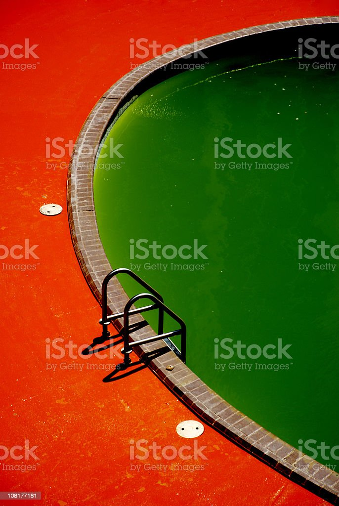 Green Swimming Pool royalty-free stock photo