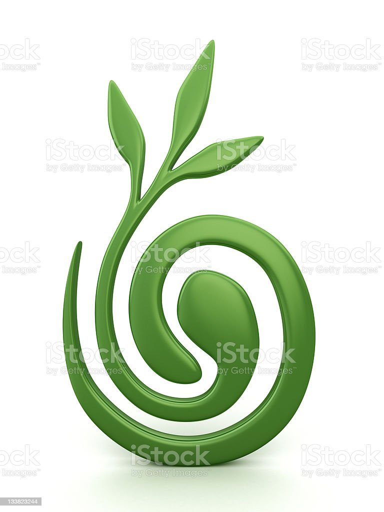 green symbol. clipping path included. royalty-free stock photo