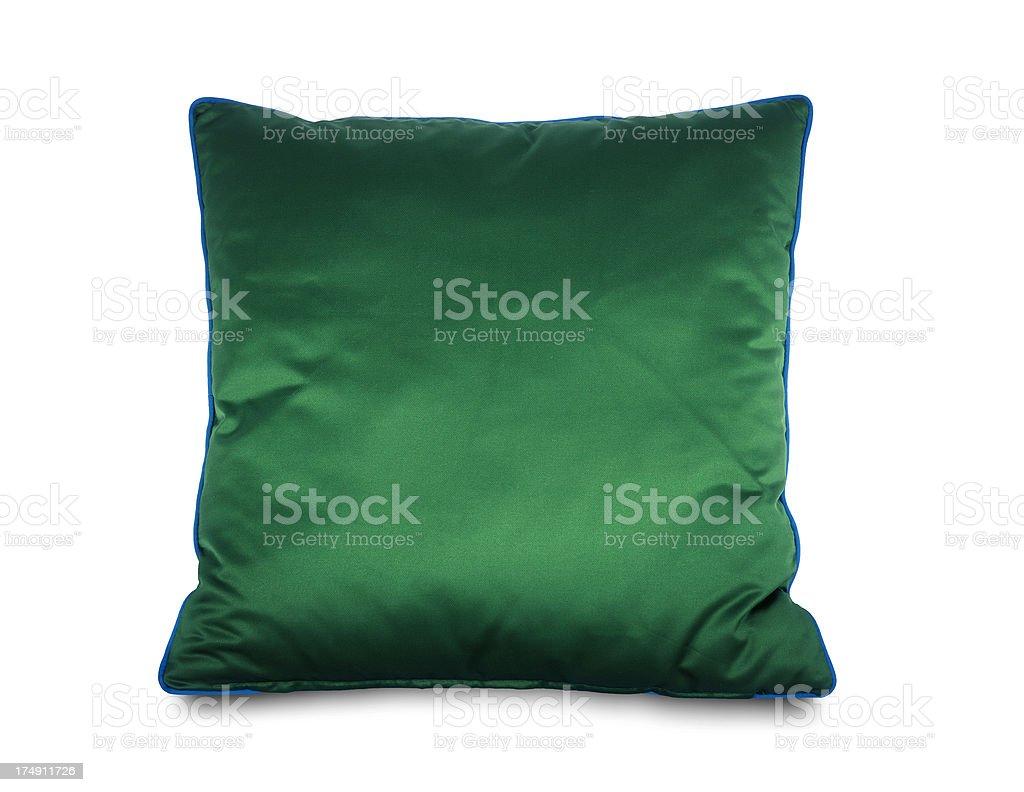 Green Taffeta Pillow royalty-free stock photo