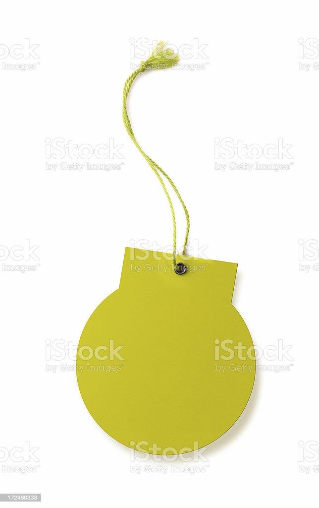 Green Tag stock photo