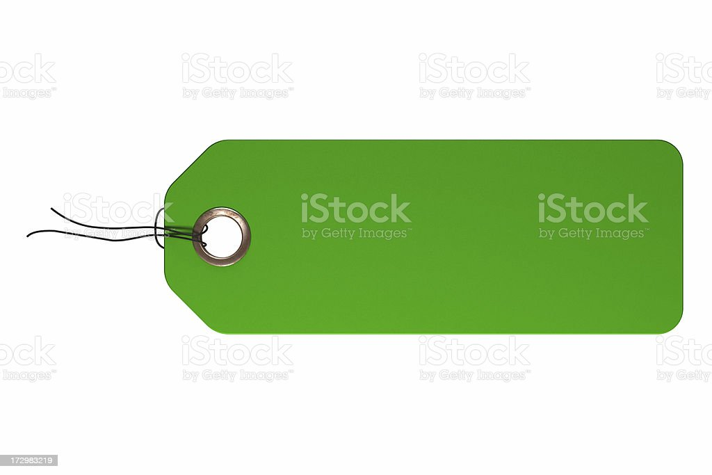 Green tag royalty-free stock photo