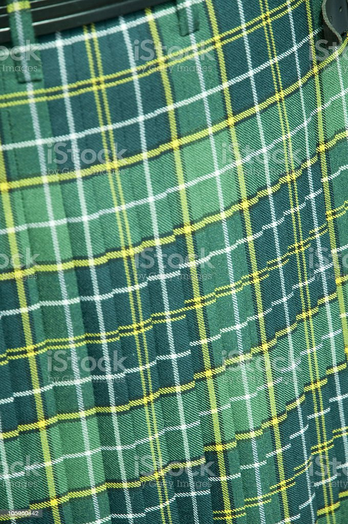 Green Tartan Kilt royalty-free stock photo