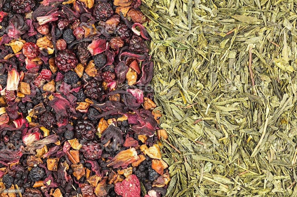 Green tea and fruit tea royalty-free stock photo