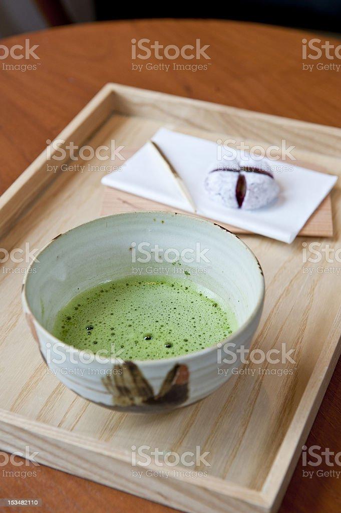 Green tea and moji stock photo